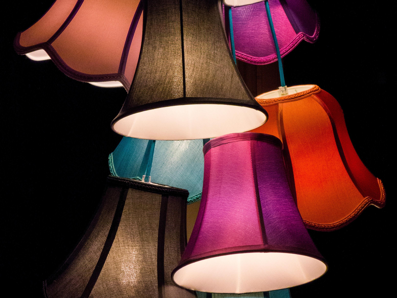 En hemmagjord lampskärm